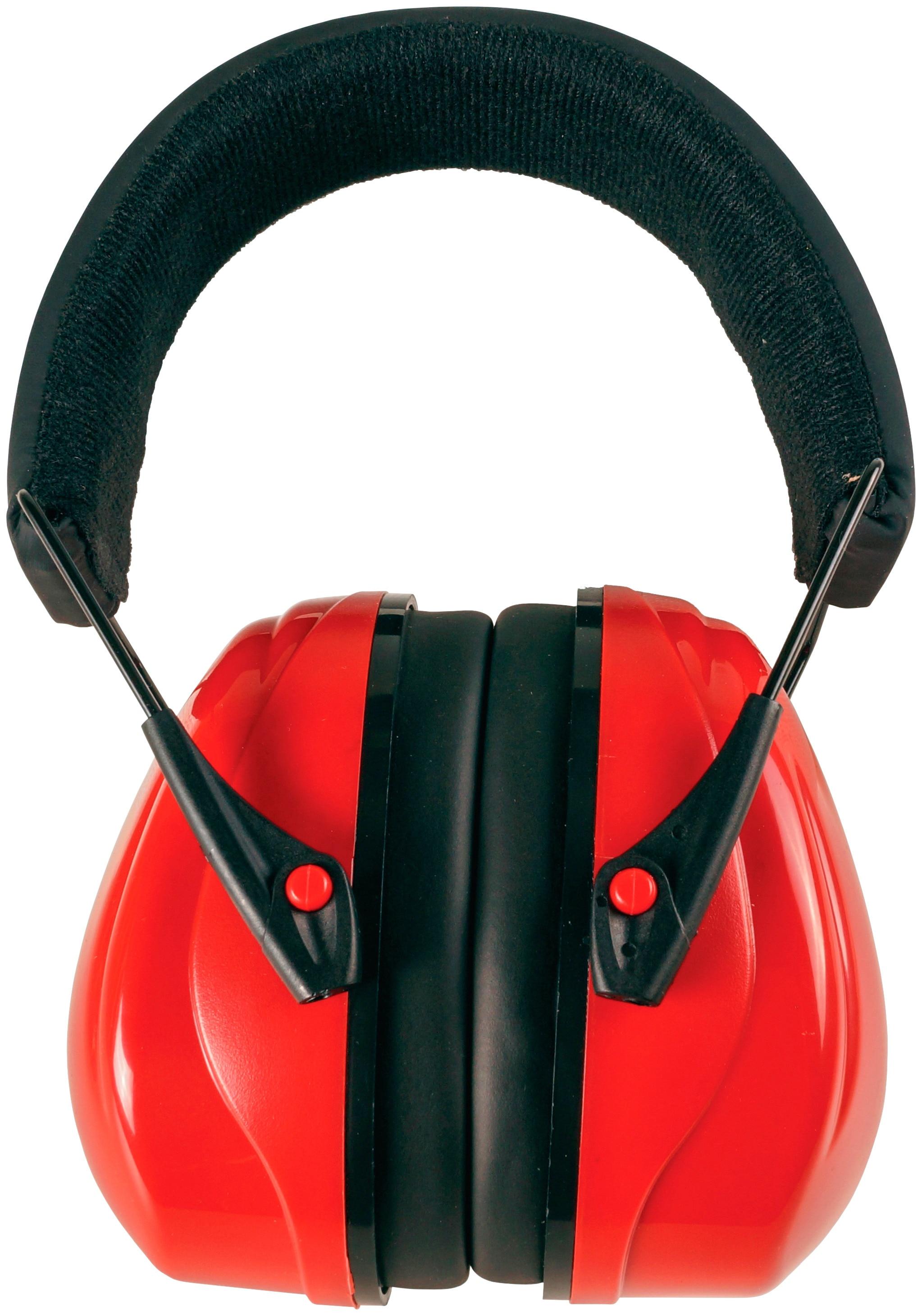 Connex Kapselgehörschutz Profi-Kapselgehörschutz COXT938706, faltbar rot Gehörschutz Arbeitssicherheit Arbeits- Berufsbekleidung
