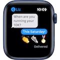 Apple Watch »Series 6 GPS, Aluminiumgehäuse mit Sportarmband 44mm«, (Watch OS 6 inkl. Ladestation (magnetisches Ladekabel)