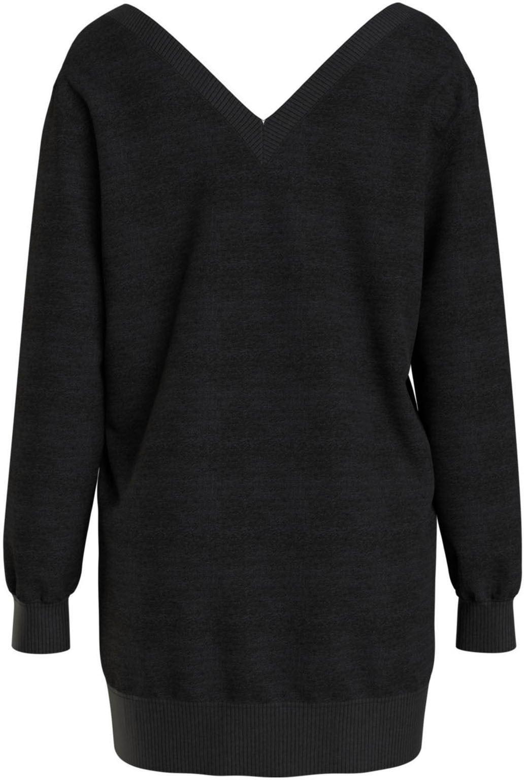 tommy jeans -  Sweatkleid TJW V-NECK SWEAT DRESS, mit tiefem V-Ausschnitt vorn & hinten
