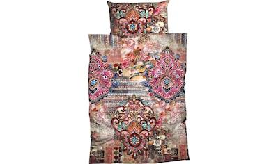 CASATEX Bettwäsche »Miranda«, dezenter Mustermix aus Blumen, Ornamentik und Streifen kaufen