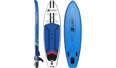 EXPLORER Inflatable SUP-Board »Sunshine 10.0«, (6 tlg., mit Paddel, Pumpe und... kaufen
