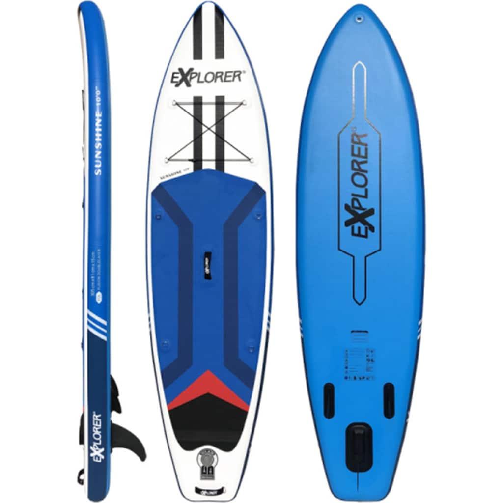 EXPLORER Inflatable SUP-Board »Sunshine 10.0«, (6 tlg., mit Paddel, Pumpe und Transportrucksack)