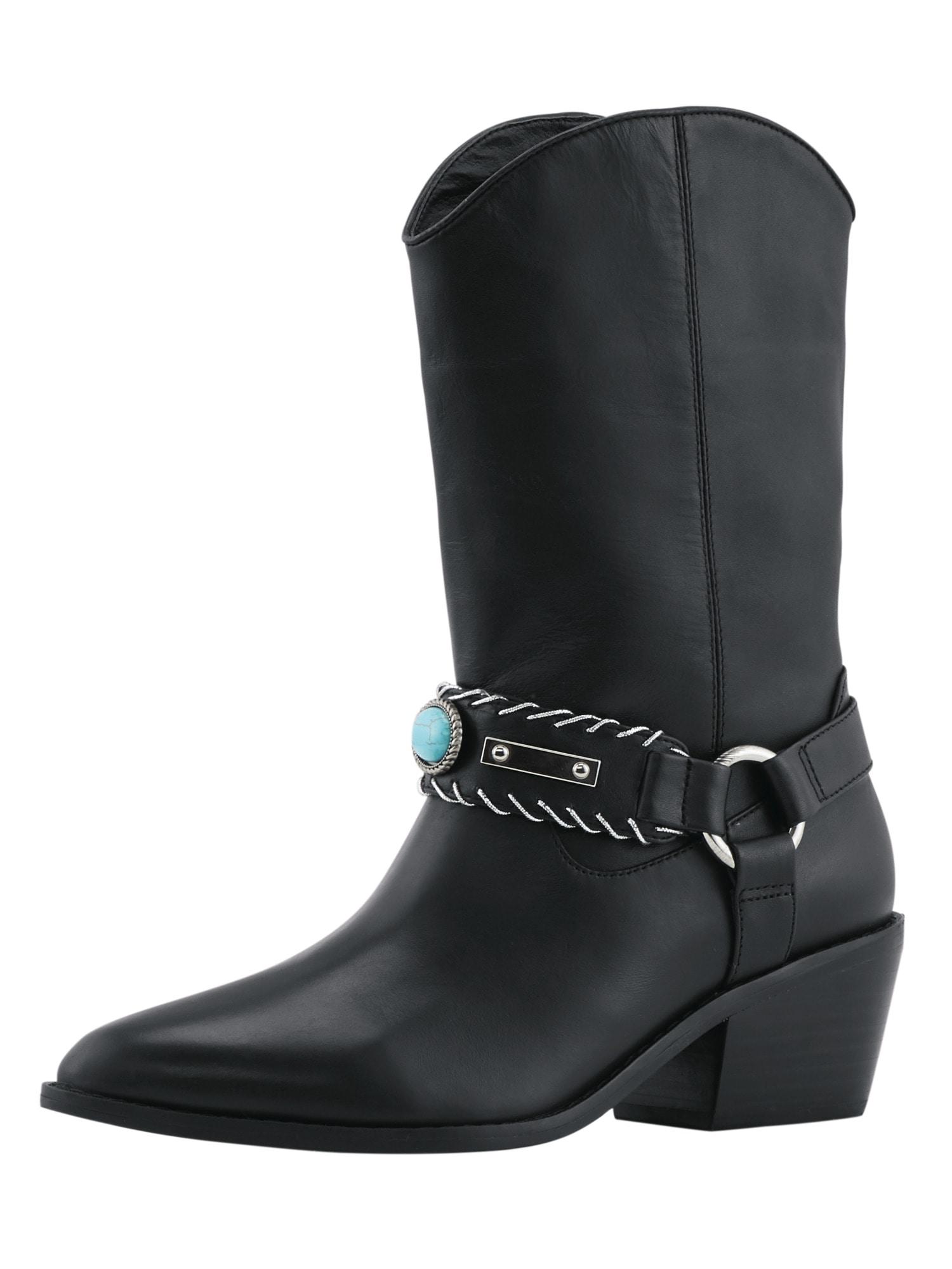 Heine Stiefel im angesagten Cowboy-Stil   Schuhe > Stiefel   Schwarz   Heine