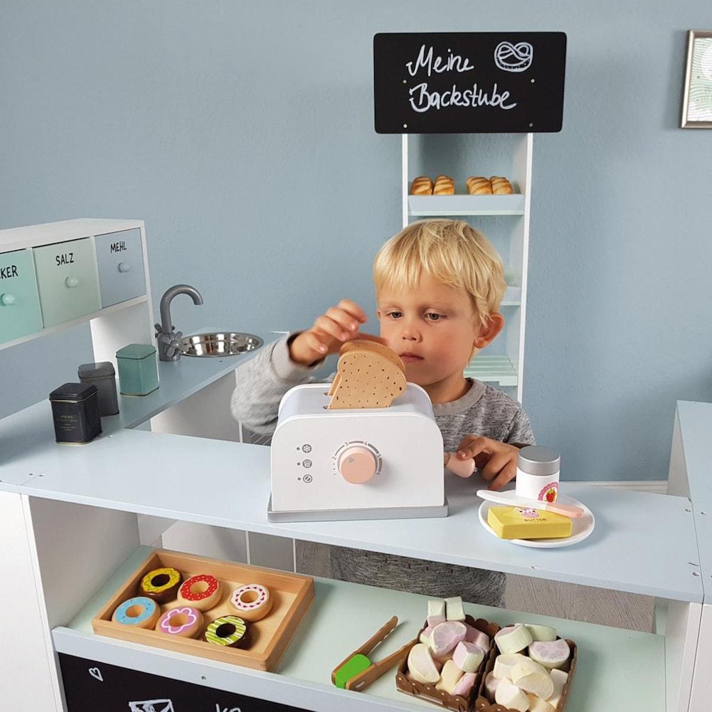 MUSTERKIND® Kinder-Toaster »Olea, weiß/graublau«, mit drehbaren Knopf