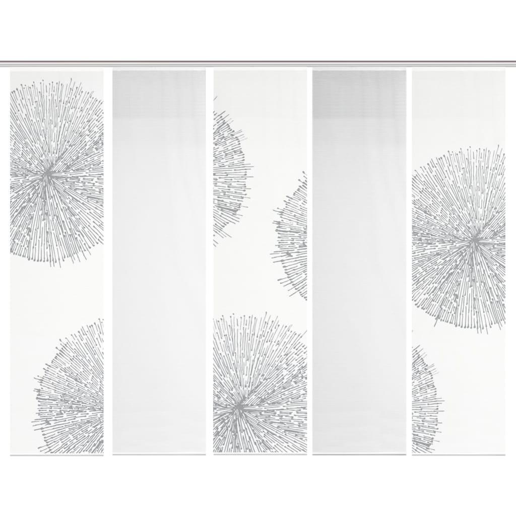 Vision S Schiebegardine »5ER SET CRESTON«, HxB: 260x60, Schiebevorhang 5er Set Digitaldruck
