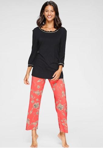 Cybèle Pyjama, im Blumenmuster mit Kräuselsäumen kaufen