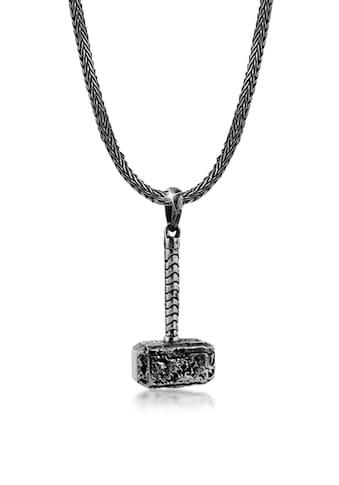 Kuzzoi Silberkette »Herren Schlangenkette Hammer Anhänger 925 Silber« kaufen