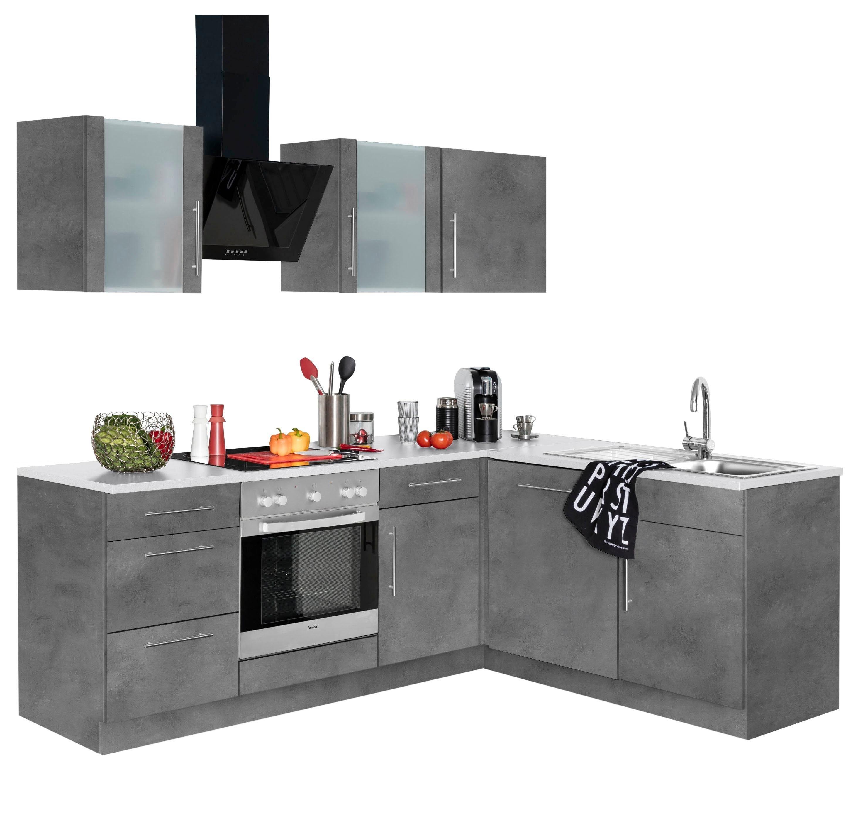 wiho Küchen Winkelküche Cali mit E-Geräten Stellbreite 220 x 170 cm