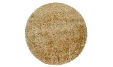 Hochflor - Teppich, »Glamour 300«, Paco Home, rund, Höhe 75 mm, maschinell gewebt kaufen
