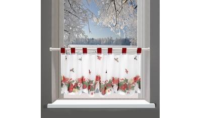 Delindo Lifestyle Gardine »Weihnachten«, mit Schlaufenaufhängung, für die Küche kaufen