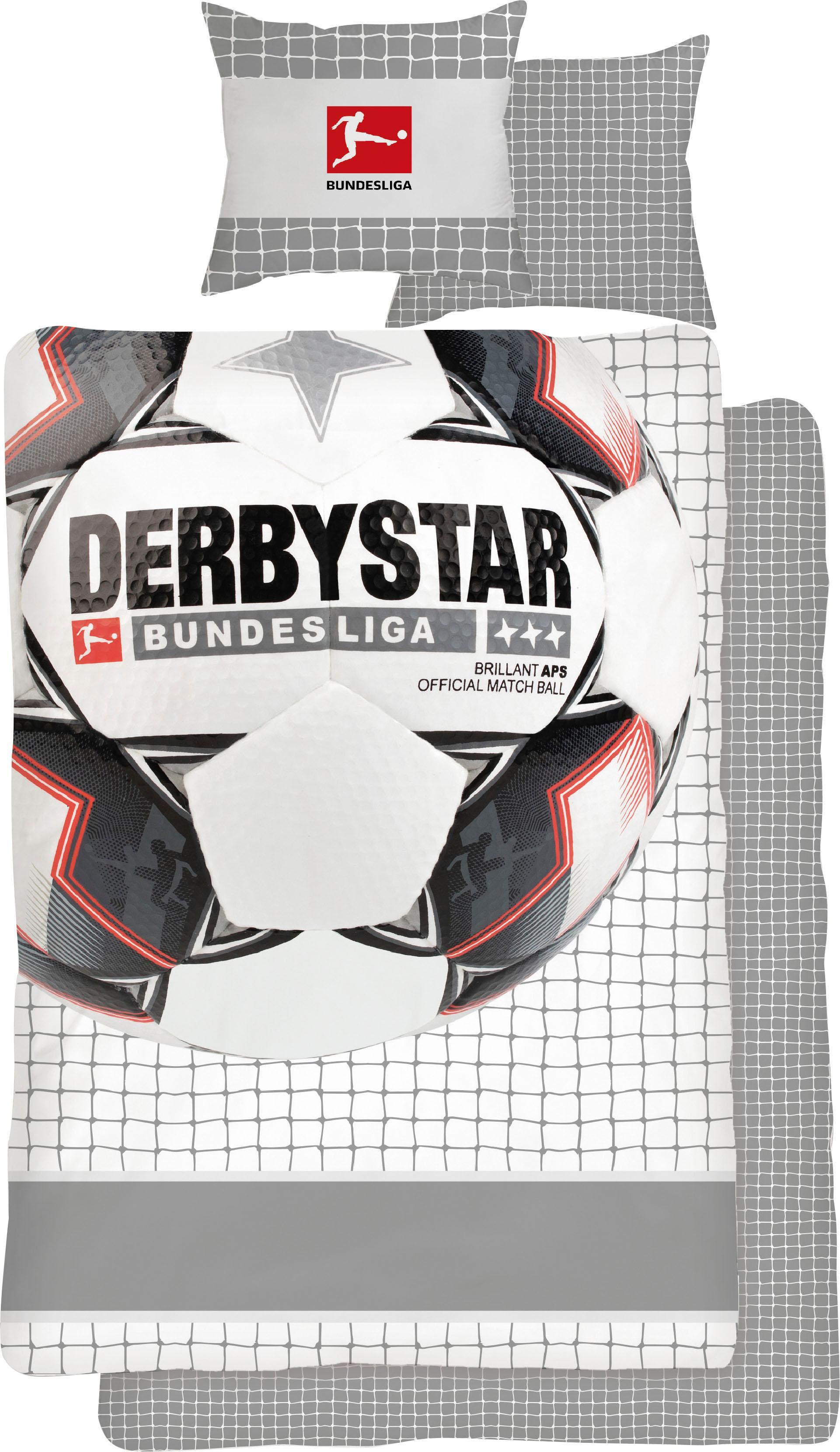Jugendbettwäsche Derby Star, weiß
