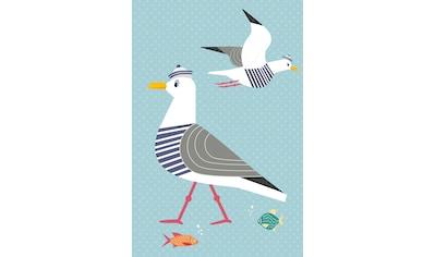 queence Acrylglasbild »Möwen und Fische« kaufen