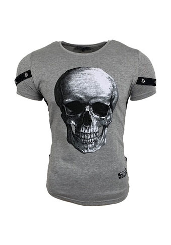 Rusty Neal T - Shirt mit coolem Totenkopf - Druck auf der Front kaufen