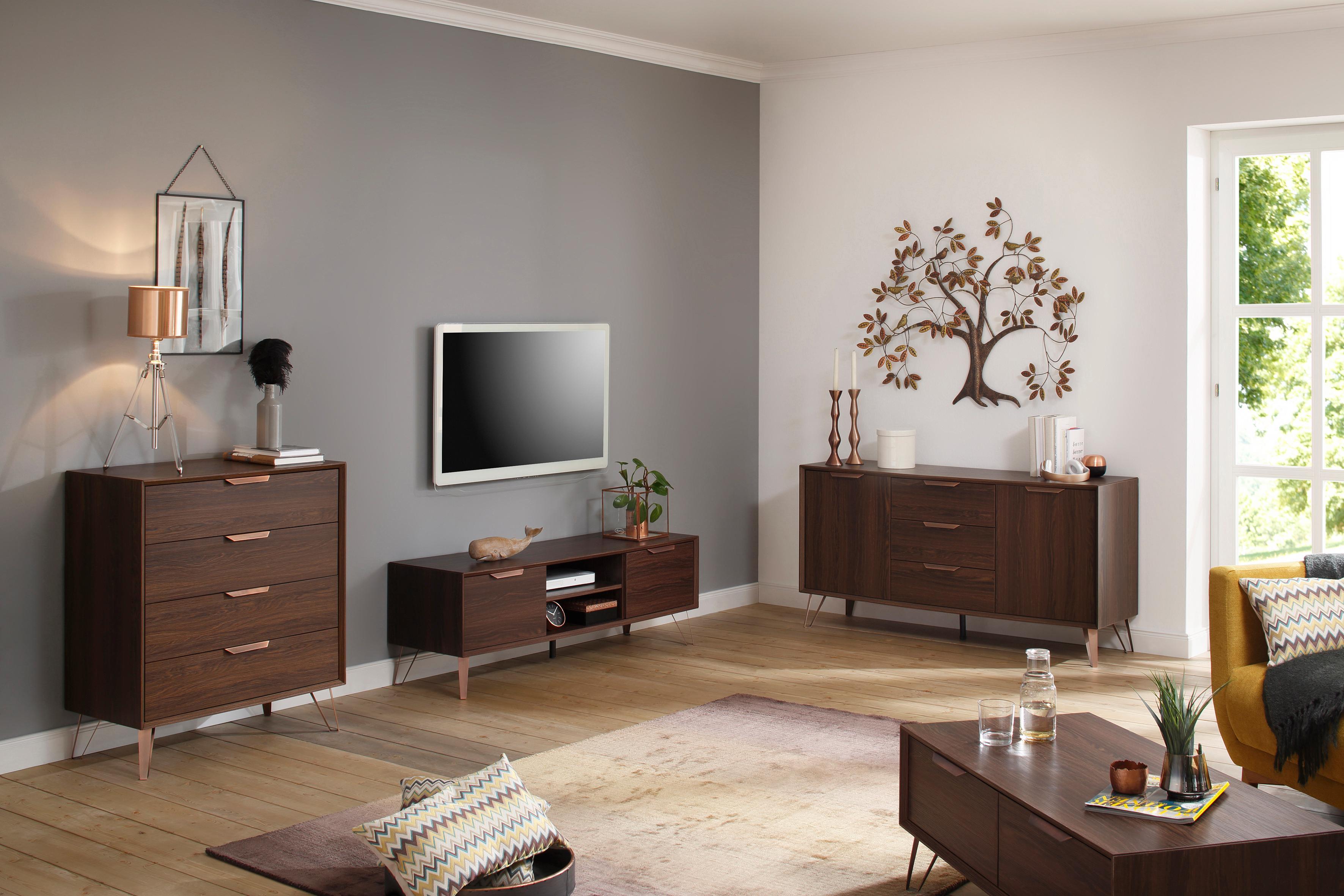 Home Affaire Sideboard Zelda mit 2 Türen und 3 Schubladen Breite 140 cm