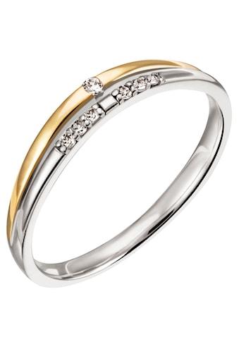 Firetti Diamantring »Nobel, 3,0 mm breit, Bicolor - Optik, Glanz, teilw. rhodiniert, massiv« kaufen