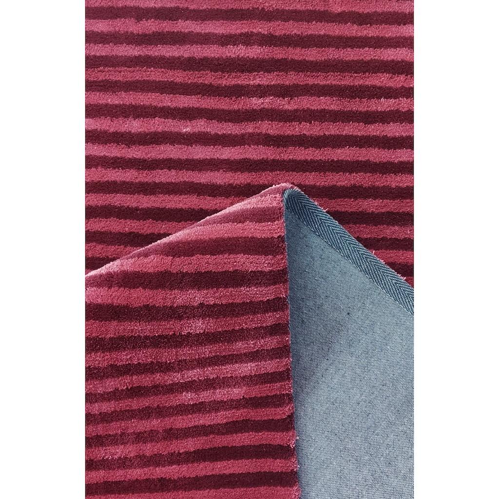 andas Teppich »Tilo«, rechteckig, 12 mm Höhe, Hoch-Tief-Optik, Wohnzimmer