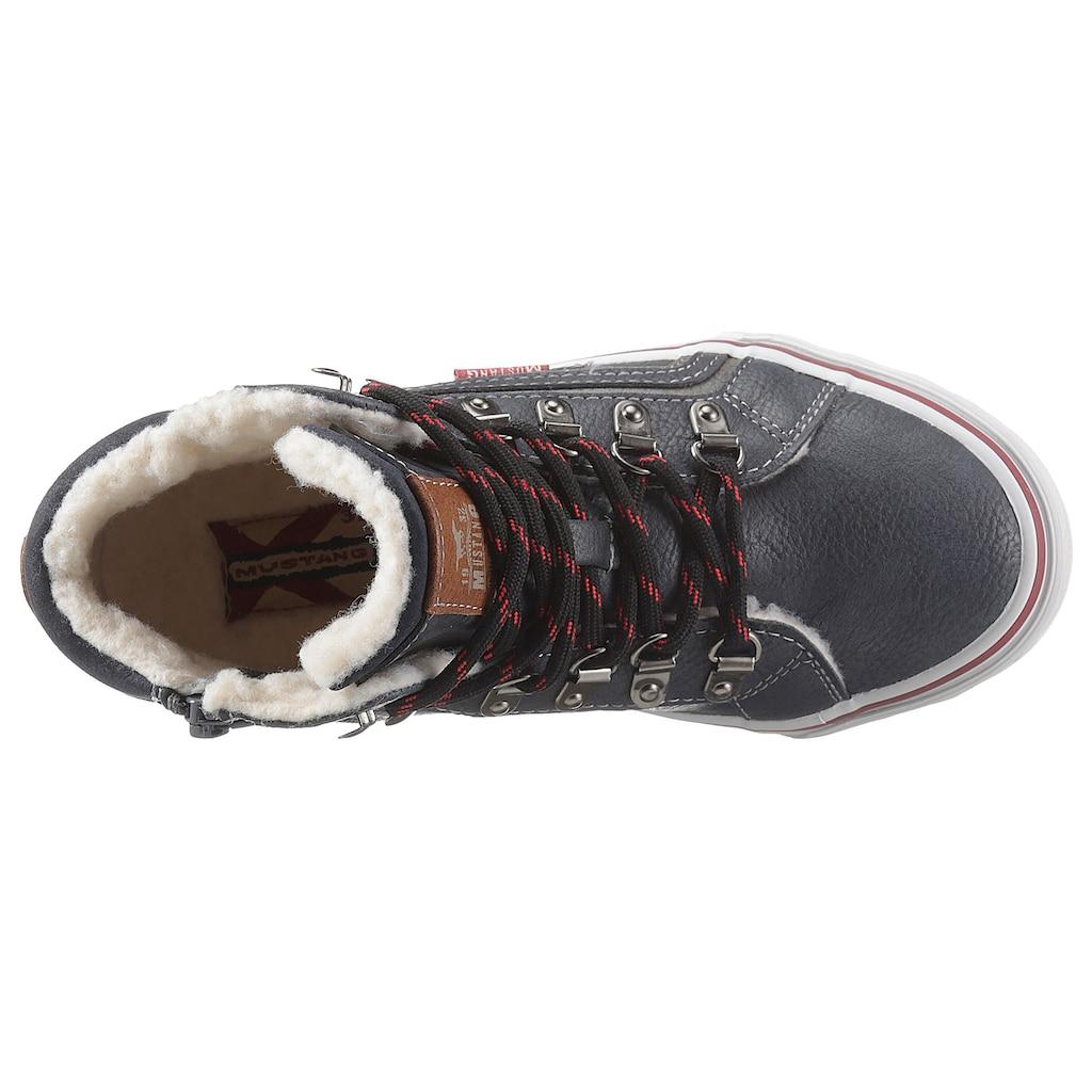 Mustang Shoes Winterboots, mit modischen Kontrastbesatz