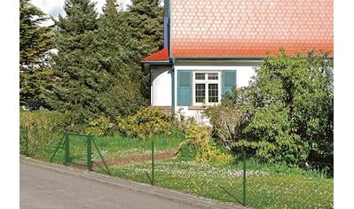 GAH Alberts Maschendrahtzaun, 175 cm hoch, 15 m, grün beschichtet, zum Einbetonieren kaufen