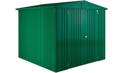 BIOHORT Stahlgerätehaus »Europa Gr. 4«, BxT: 222 x 222 cm, dunkelgrün kaufen