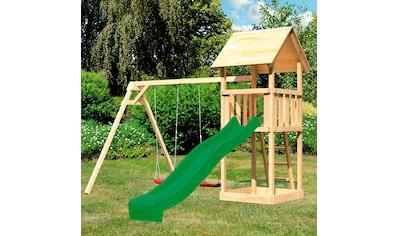 ABUKI Spielturm »Rosie«, BxTxH: 347x264x291 cm, mit Schaukel, Rutsche, Sandkasten kaufen