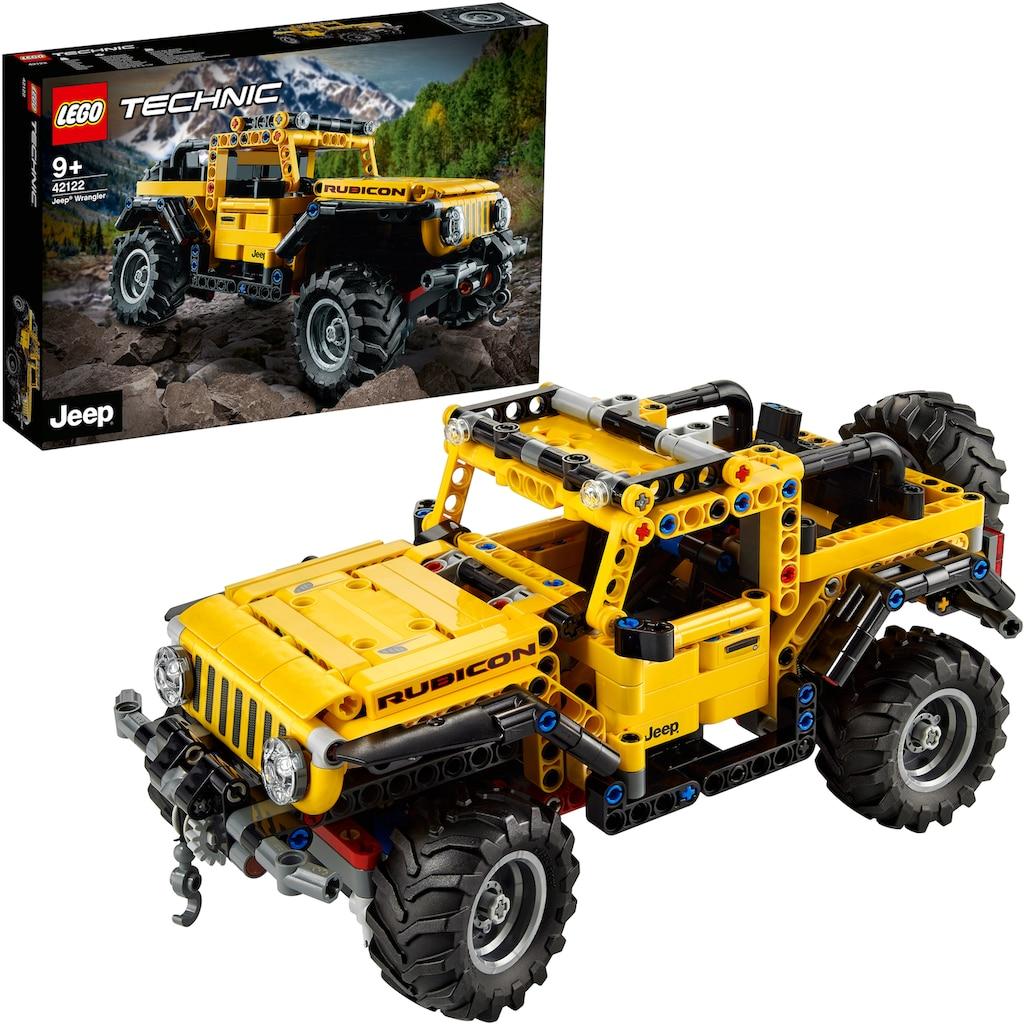 LEGO® Konstruktionsspielsteine »Jeep® Wrangler (42122), LEGO® Technic«, (665 St.), Made in Europe