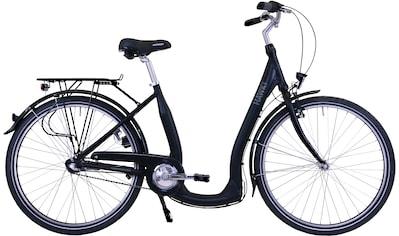HAWK Bikes Cityrad »HAWK City Comfort Premium Black«, 3 Gang, Shimano, Nexus Schaltwerk kaufen