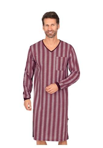 Trigema Langarmhemd, im Streifenkaro-Look für Männer kaufen
