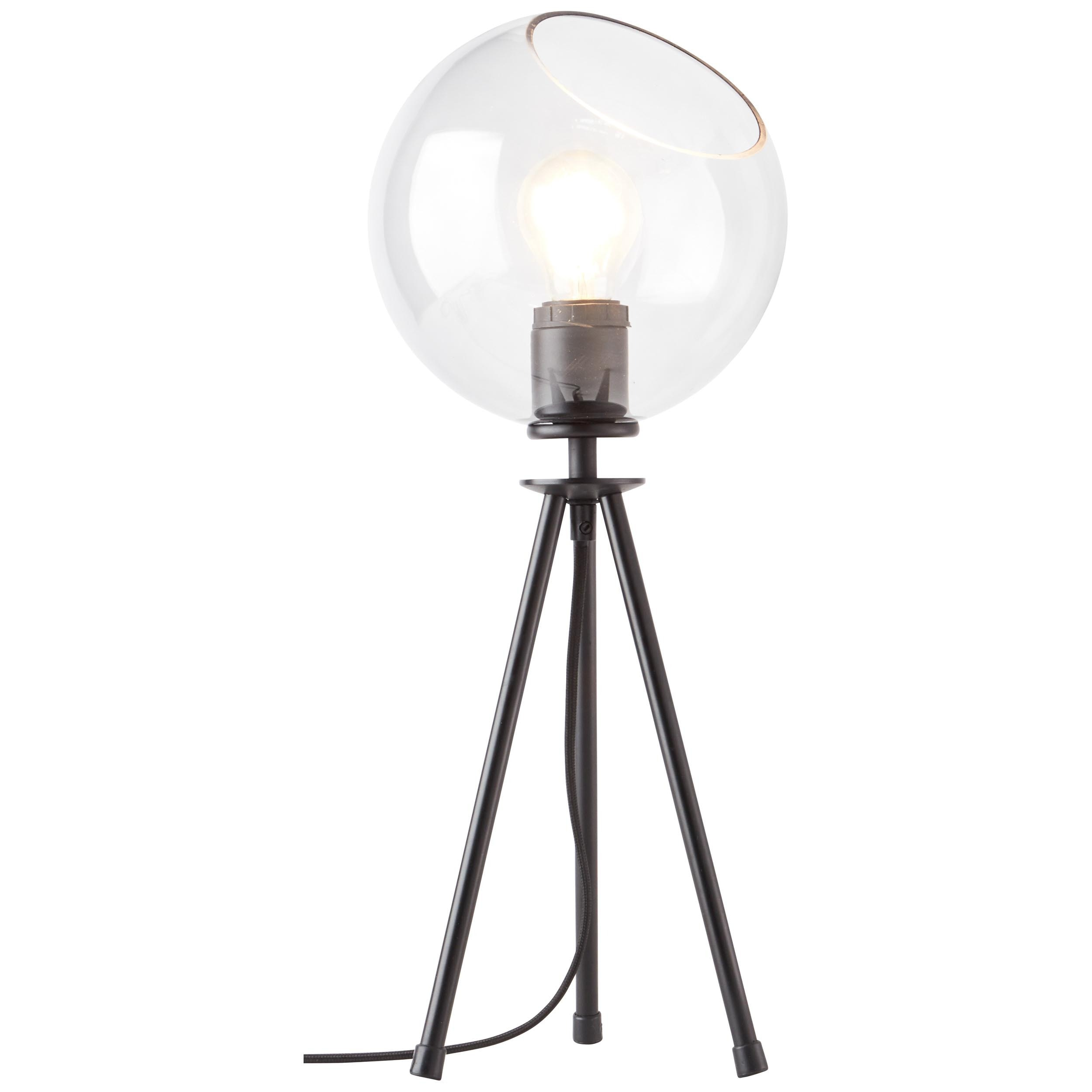 Brilliant Leuchten Tischleuchte, E27, Afton Tischleuchte schwarz/transparent