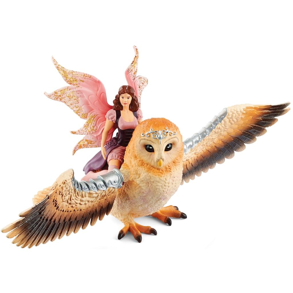 Schleich® Spielfigur »bayala, Elfe auf Glitzer-Eule (70713)«
