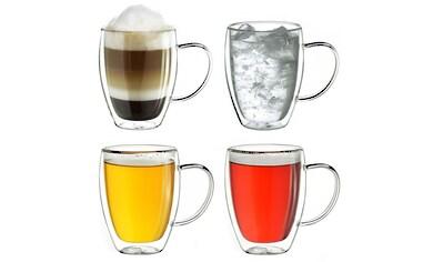 Creano Thermoglas, (Set, 4 tlg., 4er Set), mit Henkel, 250 ml, 4-teilig kaufen