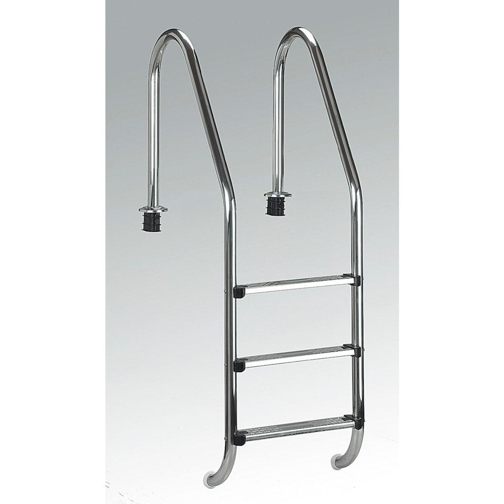 Clear Pool Poolleiter, Tiefbeckenleiter mit 3 Stufen