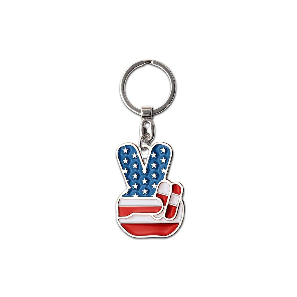 LOGOSHIRT Schlüsselanhänger mit Siegeszeichen-Symbol