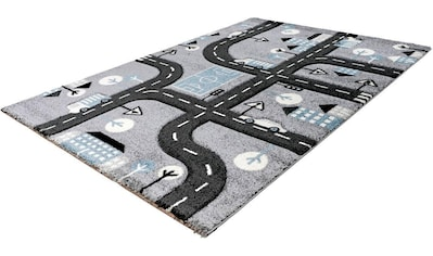 LALEE Kinderteppich »Amigo 331«, rechteckig, 15 mm Höhe, Straßen-Spielteppich kaufen