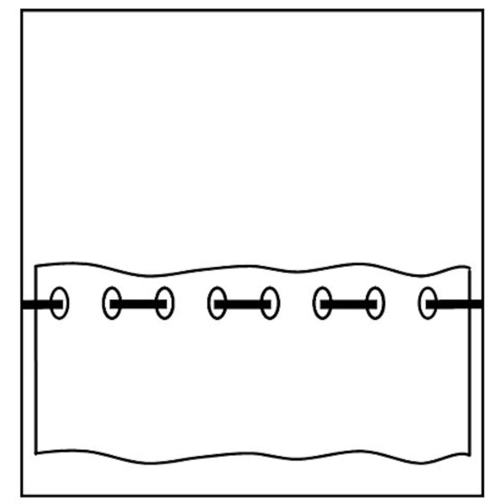 Delindo Lifestyle Scheibengardine »SÜSSE KÄTZCHEN«, HxB: 45x115, mit Stangendurchzug, für die Küche