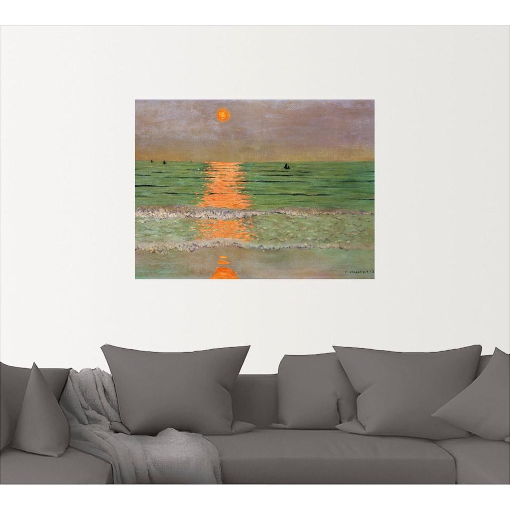 Artland Wandbild »Sonnenuntergang. 1913«, Sonnenaufgang & -untergang, (1 St.), in vielen Größen & Produktarten -Leinwandbild, Poster, Wandaufkleber / Wandtattoo auch für Badezimmer geeignet