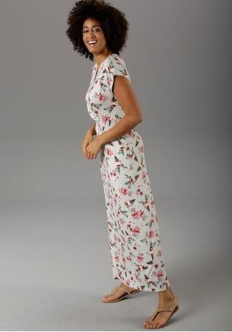 Aniston CASUAL Maxikleid, mit Blütendruck - NEUE KOLLEKTION kaufen