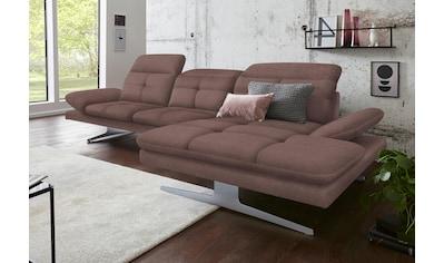 exxpo - sofa fashion Ecksofa, inkl. Kopf- bzw. Rückenverstellung und Armlehnenverstellung kaufen