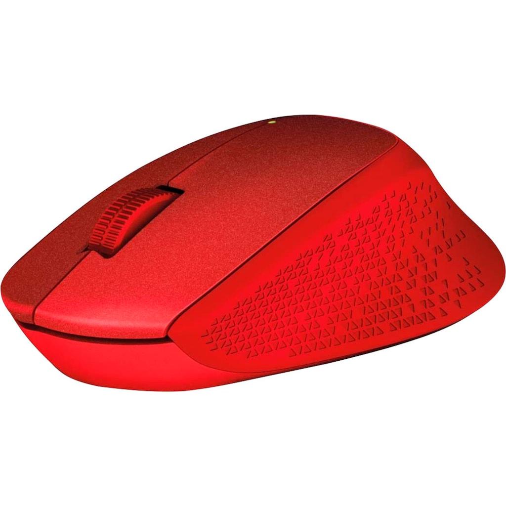Logitech Maus »M330 Silent Plus Red«