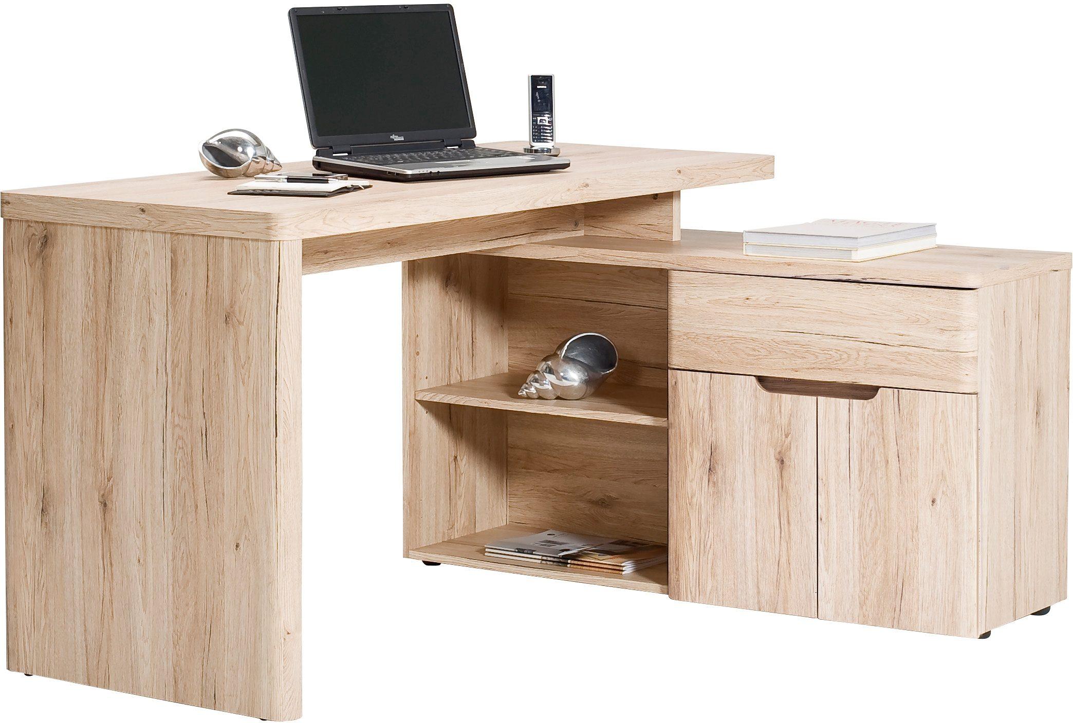 Jahnke Eck-Schreibtisch CU-Libre 150 E mit Regalelement
