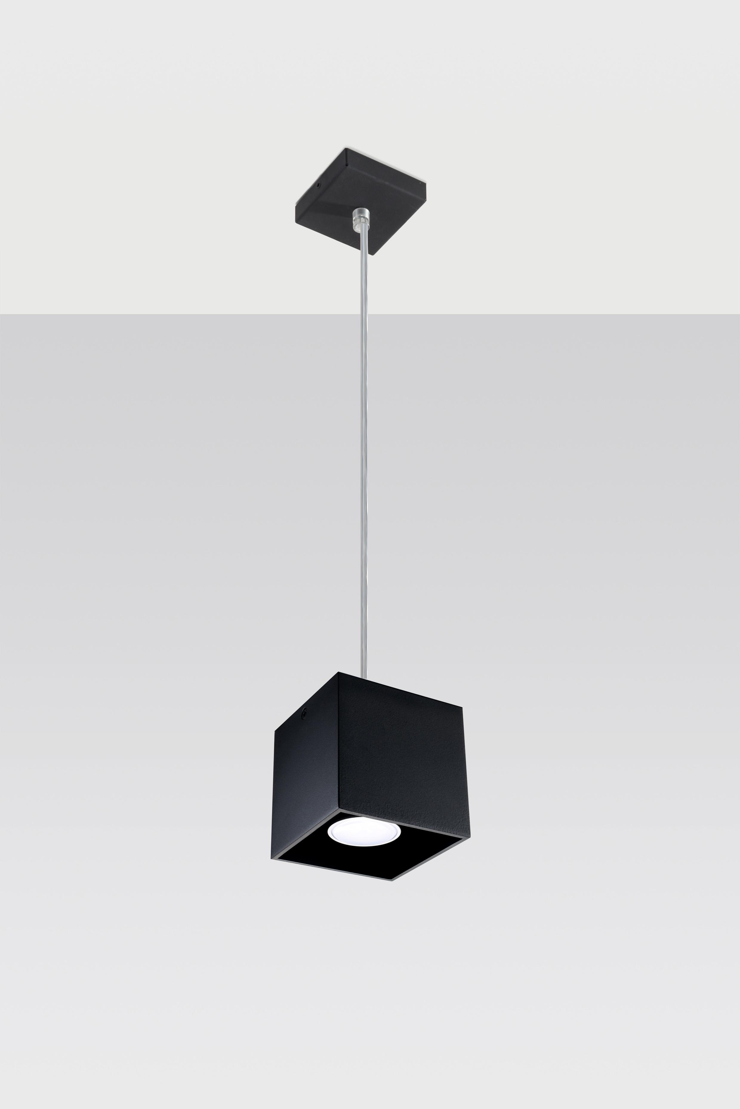SOLLUX lighting Pendelleuchte QUAD, GU10, 1 St., Hängeleuchte, Hängelampe