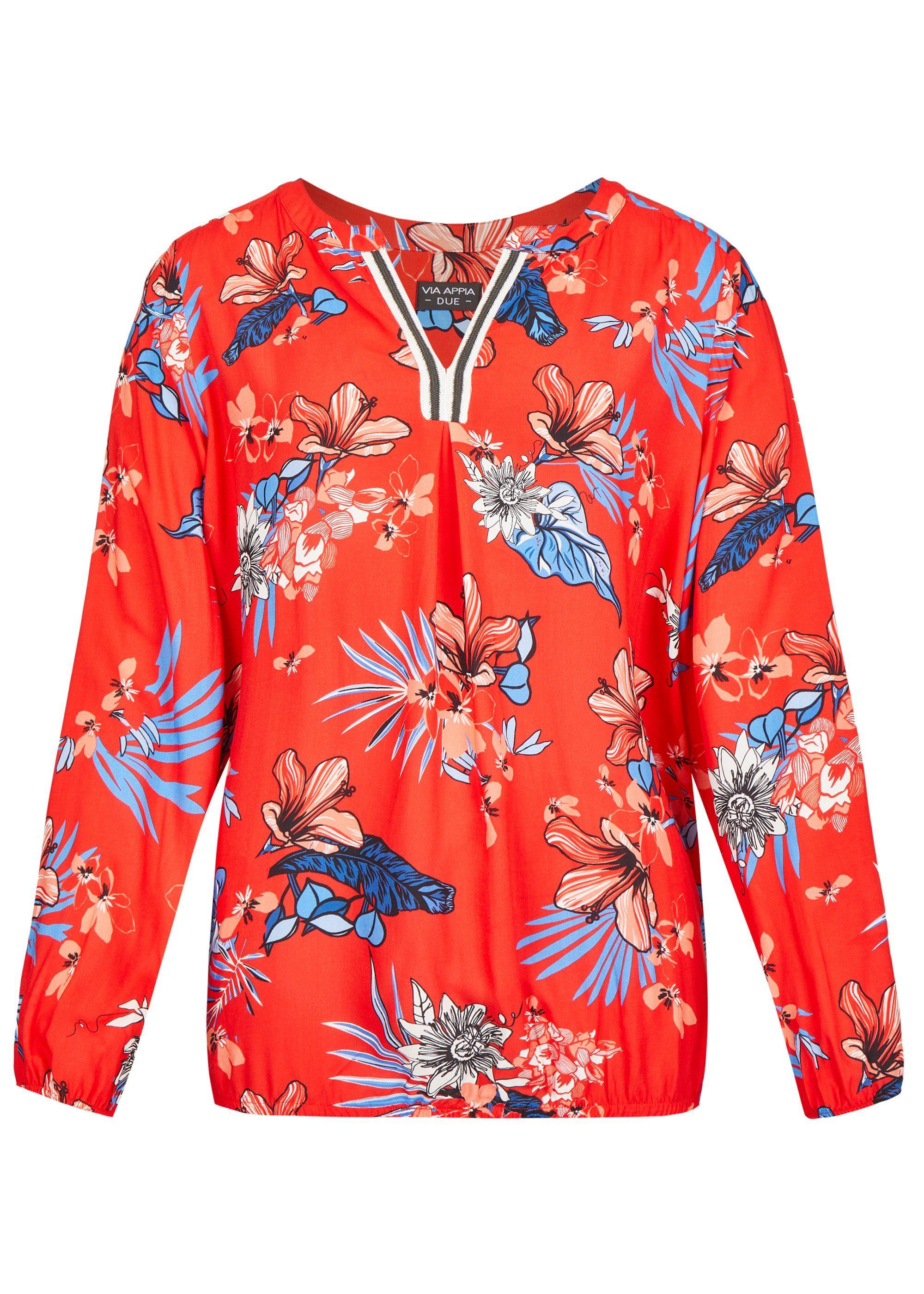 VIA APPIA DUE Romantische Bluse mit Blumen-Muster