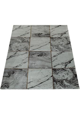 Paco Home Teppich »Kraft 521«, rechteckig, 17 mm Höhe, Kurzflor mit Marmor-Design, Wohnzimmer kaufen