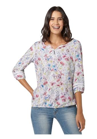 Classic Inspirationen Bluse mit wunderschönem Blüten - Druck kaufen