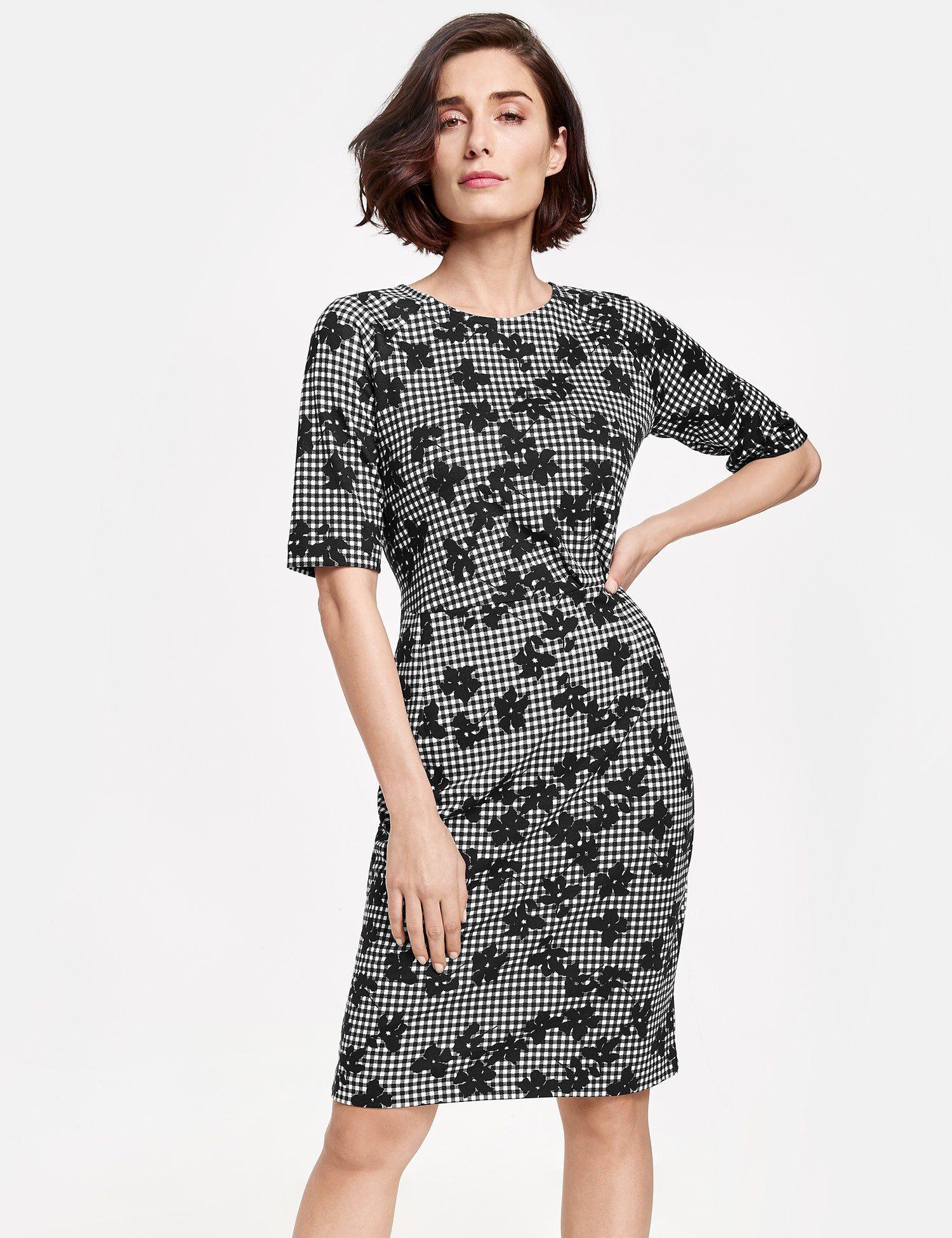 GERRY WEBER Kleid Gewirke Kleid mit Mustermix
