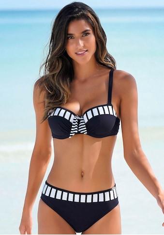 Sunflair Bügel-Bikini, mit Wattierung und gestreiften Einsätzen kaufen