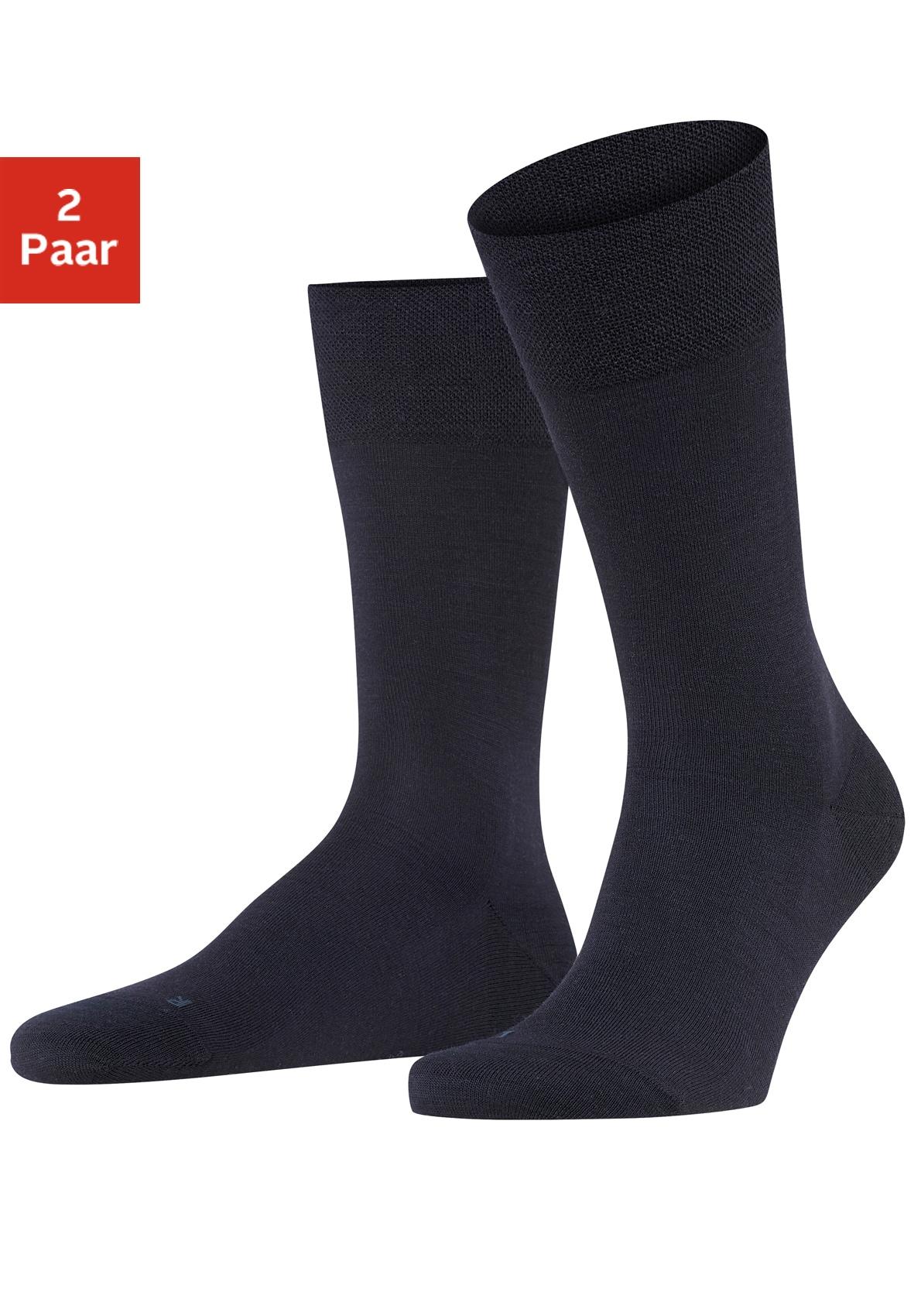 FALKE Socken Berlin (2 Paar)   Bekleidung > Wäsche   Blau   Baumwolle - Schurwolle   Falke