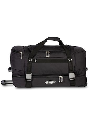 fabrizio® Reisetasche »Bestway Rollenreisetasche XXL, schwarz« kaufen