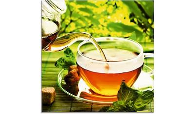 Artland Glasbild »Ausgießen eines Gesundheitstees«, Getränke, (1 St.) kaufen