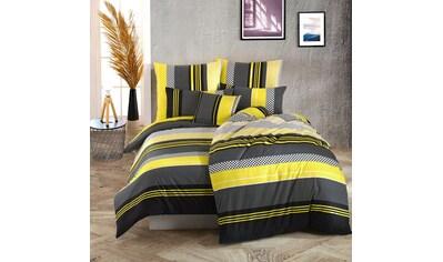 TRAUMSCHLAF Bettwäsche »Zigo Sari gelb schwarz«, raffiniertes grafisches Muster kaufen