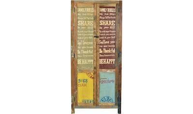 SIT Stauraumschrank »Speedway«, aus recyceltem Altholz, Breite 80 cm, Shabby Chic, Vintage kaufen